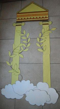 construction de la déco porte de classe thème mythologie