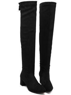 bottes zippé à la mode -Noir