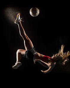 soccer sports portrait.  Wowza!