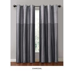 2-Pack: Energy-Saving Interlined Grommet-Top Curtain Panels - Assorted Colors