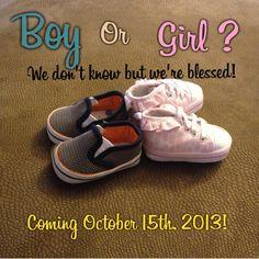 Our pregnancy announcement!
