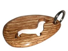 Wooden Dachshund Keychain Wooden Keychain by KentsKrafts on Etsy