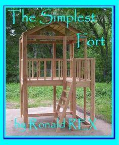 Details about The Simplest Fort by Ronald Rex (English) Paperback Book Backyard Fort, Backyard Playhouse, Build A Playhouse, Backyard Playground, Backyard For Kids, Backyard Projects, Outdoor Projects, Backyard Designs, Backyard Ideas