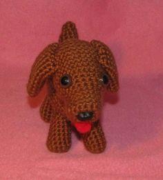 """Crocheted Amigurumi Baby Dachshund"" #Amigurumi  #crochet"