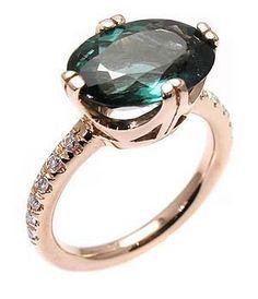 Green tourmaline ring by robenat on Etsy. $1,050.00, via Etsy.