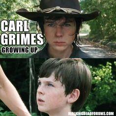 Carl has grown up since season 1.
