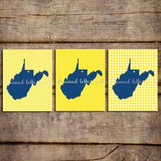 West Virginia Trio 8 x 10   You select the by framedletterart, $36.00