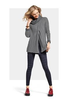 I have this turtleneck. Hard to tell, but opens in the front and back.   Fergie Turtleneck #cabiclothing Fall 2016