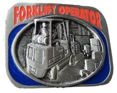 BELT BUCKLE FORKLIFT FORKLIFTS MACHINE OPERATORS COOL OCCUPATION BELTS BUCKLES #Coolbuckles #forklift #forkliftoperator #beltbuckle