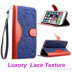 Luxury Lace Texture+leather Wallet With Stand Case For IPhone 6 6G 4.7 Phone Bag for IPhone 6 Plus 5.5 Sansung Galaxy S6 Card Holder Case Online with $3.57/Piece on Gzsmoke's Store | DHgate.com