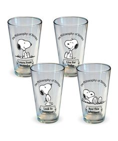 Take a look at this Philosophy of Snoopy Glass Set by ICUP Inc. on #zulily today! $25 !!