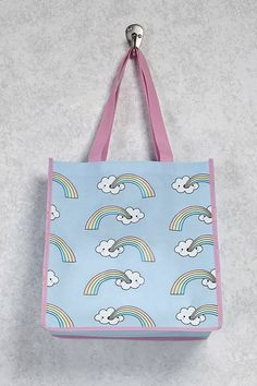 FOREVER 21 Cloud & Rainbow Tote Bag ($1.90)