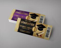 Graduation Event Tickets Design, graduation invitation ticket, grads tickets, Graduation party ticke Ticket Design, Flyer Design, Party Tickets, Event Tickets, Custom Tickets, Ticket Invitation, Ticket Stubs, Invitation Ideas, Ticket Template