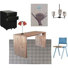 """Modern Rustic Home Office/Workspace"" by thebubbreport on Polyvore"