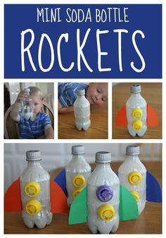 Toddler Approved!: Mini Soda Bottle Rocket Craft for Toddlers