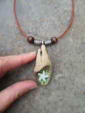 流木ネックレス緑のヒトデ流木ネックレス流木ジュエリーec Diy Jewelry For Beginners, Personalized Items, Bracelets, Leather, Bracelet, Bangles, Bangle, Arm Bracelets, Super Duo