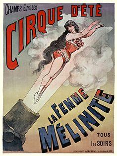 La Femme Melinite #vintage #circus