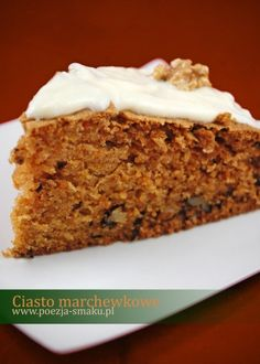 Ciasto marchewkowe (Carrot Cake - recipe in Polish) Sweet Recipes, Cake Recipes, Dessert Recipes, European Dishes, Polish Recipes, Food Cakes, Carrot Cake, Cake Cookies, Food To Make