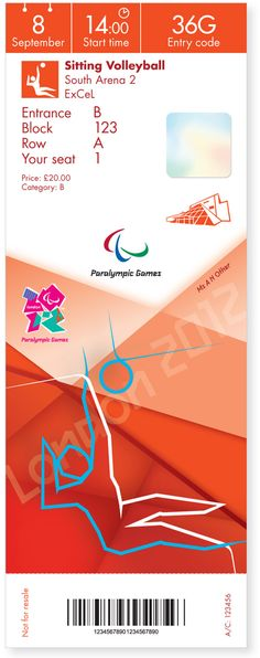 London 2012 Olympic and Paralympic Games Tickets | Designer: Futurebrand | Image 8 of 12