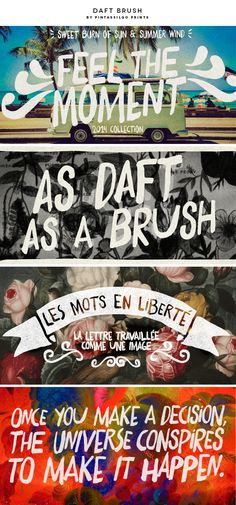 New favorite font: Daft Brush by Pintassilgo Prints. Feels perfect for spring and summer doesn't it?