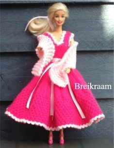 Breipatroon Barbie prinsessenjurk