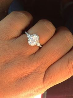Diamond Wedding Rings : oval centre x in Ritani Bella Vita setting with . - Buy Me Diamond Wedding Engagement, Wedding Bands, Oval Wedding Rings, Oval Engagement Rings, Bridal Rings, Perfect Wedding, Dream Wedding, Wedding Gold, Just In Case