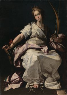 Saint Catherine of Alexandria Bernardo Strozzi (Italian, Oil on canvas. Catherine was a Egyptian princess who converted to Christianity. European Paintings, Classic Paintings, Museum Exhibition, Art Museum, St Catherine Of Alexandria, Ben Shahn, Baroque Painting, Renaissance Paintings, Italian Artist