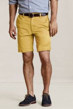 It is remarkably hard to find shorts that neither billow nor are too long; these look to be just about perfect on both counts.  I am especially a fan of the Vintage Brick color; it looks great with all shades of blue and green.  Men's Everyday Chino Shorts  from Lands' End Canvas #landsendcanvas