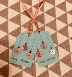 Chiudipacco palline di Natale con bottoni Xmas balls button
