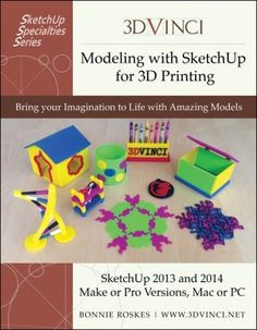 A great book for educators using printing: Modeling with Sketchup for Printing by Bonnie Roskes. Article: Schooling with SketchUp: Modeling the Future with 3d Printing News, 3d Printing Industry, 3d Printing Technology, 3d Printing Service, 3d Design, Print Design, Fused Deposition Modeling, Websites Like Etsy, 3d Printable Models