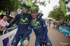 Buddies Rojas and Quintana showing some love before the stage 2 start.
