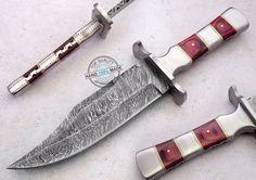"11.75"" Custom made Beautiful Damascus Steel Bowie Knife (FSL-061-4) #UltimateWarrior"