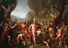 David Leonidas at Thermopylae by Jacques-Louis David