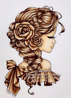 Im designer at Conie Fong Art and Design . She make so many lovely digi stamp. Thought I would share my DT colouring with this lo. Hair Sketch, Bella Rose, Color Effect, 30 Day, Copic, Colouring, Markers, Hair Color, Challenges