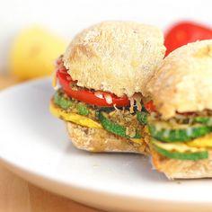 Parmesan Pesto Veggie Sandwich