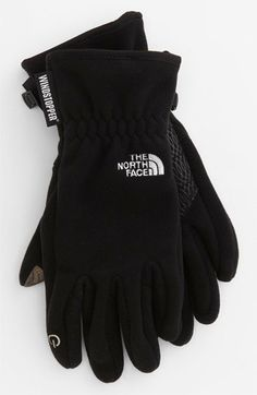The North Face 'E-Tip Palmir' Windstopper® Gloves (Women) available at #Nordstrom