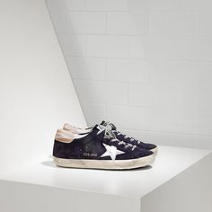 4233d26d2c5f Superstar Sneakers Womens in Suede - Laminated Leather Star. Golden Goose  ...