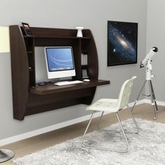 Floating Desk with Storage By Prepac