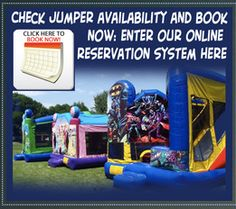 Now no more waiting in line nor to travel. Book online rental bouncer or party jumper rentals in your town. We garuantee your party will be awesome and kids will enjoy with pure heart. For more information visit : www.artsyevents.com