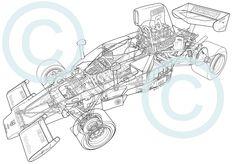 https://flic.kr/p/qgjHj9 | 1974 Lola T332 F5000 cutaway technical illustration