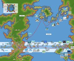 Map Of Grand Line Red Line And East Blue One Piece One Piece Animes Wallpapers One Piece Personagens
