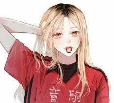 Kenma Kozume He's more beautiful than me. Manga Kawaii, Chica Anime Manga, Kawaii Anime Girl, Anime Art Girl, Anime Guys, Blonde Anime Girl, Haikyuu Genderbend, Haikyuu Fanart, Haikyuu Anime