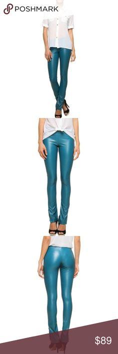 6a7c236b328c7 Flared faux leather leggings Medium Teal Bohemian Look: Boho Size  (Women's): M