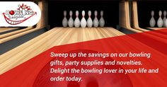 Sweep up the savings on our bowling gifts, party supplies and novelties. Delight the bowling lover in your life and order today. #bowling #gifts #products #giftbasket #chocolates #frames #toys #games #novelties #party #high-quality #delivery #giveaway #BowlingDelights #shopping #deals #sale