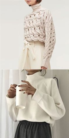 White Sweaters White Sweaters Lena Be Mode Fashion trend tops for women fashion suitable for spring summer and fall Colorful and nbsp hellip Ad Fashion, Look Fashion, Fashion Prints, Fashion Outfits, Womens Fashion, Fashion Design, White Fashion, Fall Sweaters, White Sweaters