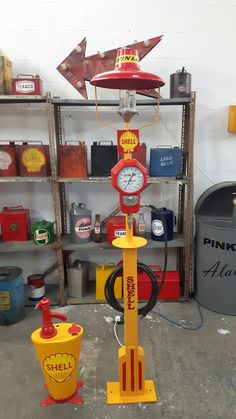 "I built this stand to display a dunlop air meter, somebody described it as a ""frankenstiens' monster "" What do you think?"