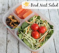 Fun salad idea for a work lunch | packed in @EasyLunchboxes containers