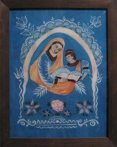 Podmalba na skle Byzantine Art, Folk Art, Catholic, Saints, Frame, Glass, Painting, Inspiration, Decor