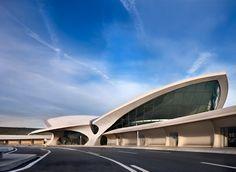 The iconic TWA Terminal at JFK Airport, New York - Eero Saarinen 1962