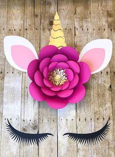 Aprende cómo hacer rosetones y rosas de papel para decorar una fiesta de unicornios ~ Haz Manualidades
